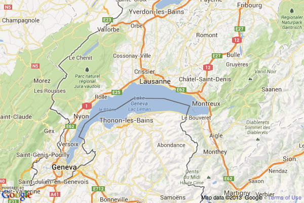 Cities Of France Map.Cities And Towns On Lake Geneva In Switzerland France