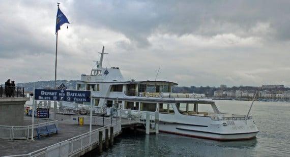 CGN Boat at Genève Mont Blanc in Geneva, Switzerland