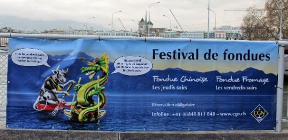 Fondue Cruise Advertisement in Geneva