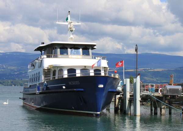 Lake Geneva Ferry Boat from Nyon in Yvoire