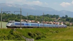 TGV Train near Bellegarde