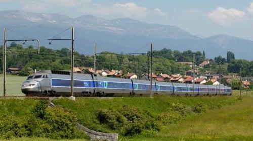 TGV Train near Bellegarde