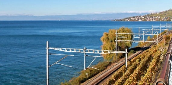 Railway Line next to Lake Geneva