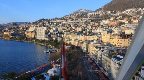 Views of the Marché de Noël à Montreux Christmas Market, Switzerland