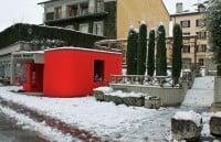 Roman Museum in Nyon in Winter, Switzerland