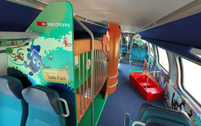 Family Wagon on a Swiss Train