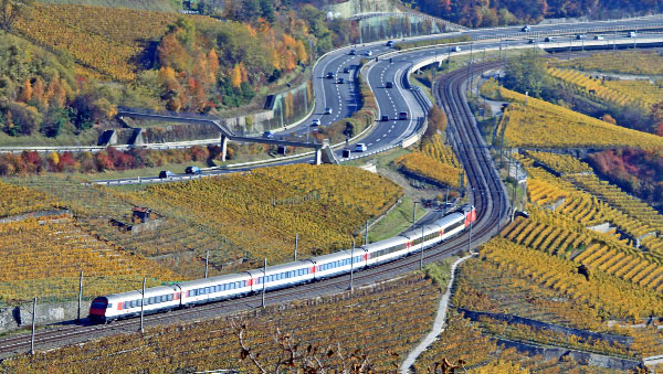 Swiss Train the Lavaux