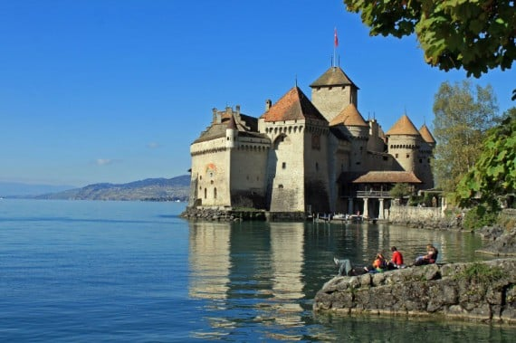 Chateau de Chillon Castle on Lake Geneva