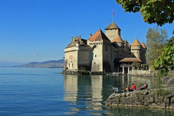 Chateau de Chillon Castle on Lake Geneva