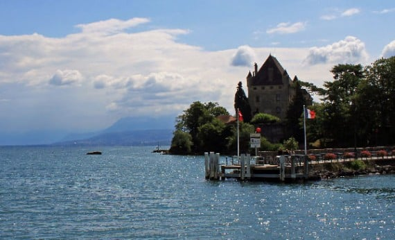 Chateau d'Yvoire on Lac Léman in France