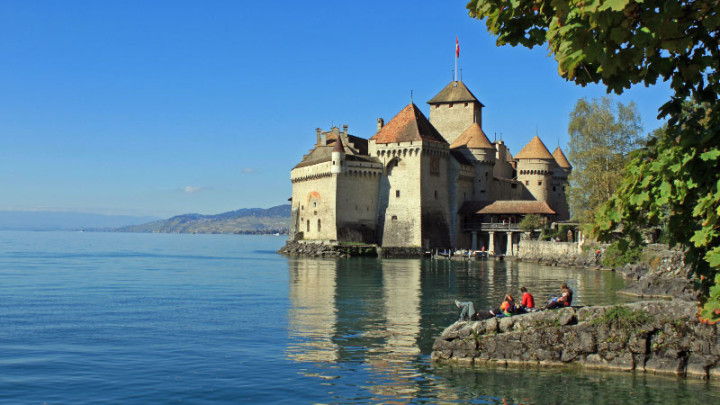 Chateau de Chillon Castle near Montreux