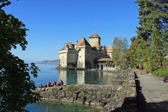 Photo Gallery of Chateau de Chillon Castle in Switzerland