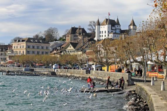 Chateau de Nyon on Lake Geneva