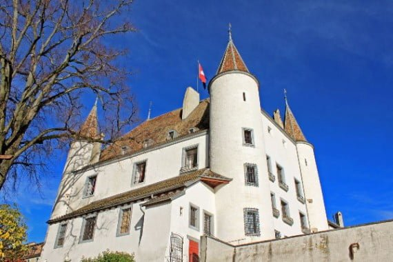 White Chateau de Nyon, Switzerland