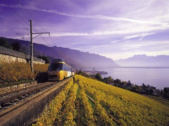 Golden Pass Train from Montreux on Lake Geneva, Switzerland