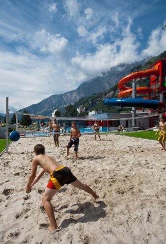 Beach Volleyball at the Burgerbad Leukerbad - Loeche les Bains-03