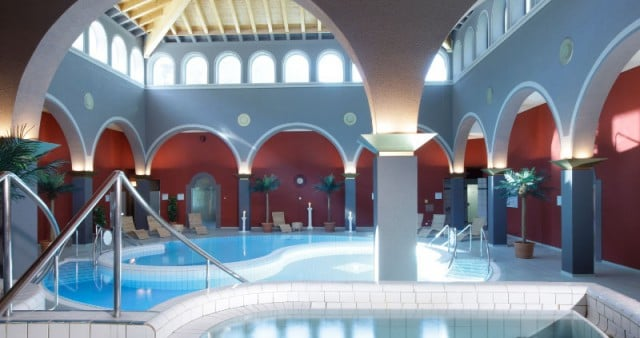 Indoor pools at Walliser Alpentherme & Spa Leukerbad - Loeche les Bains