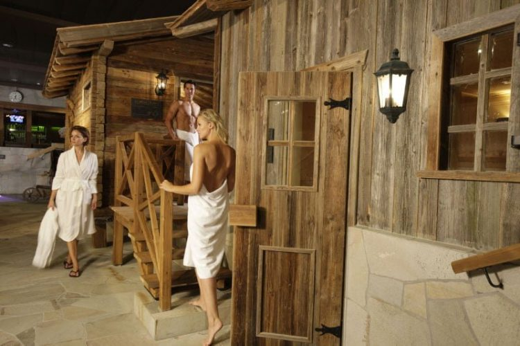 Saunas in the Walliser Alpentherme & Spa Leukerbad - Loeche les Bains