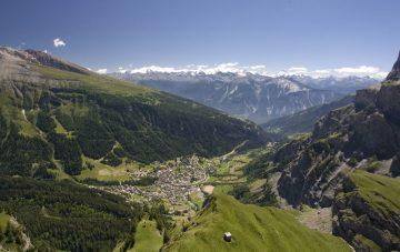 Leukerbad - Loeche les Bains in summer