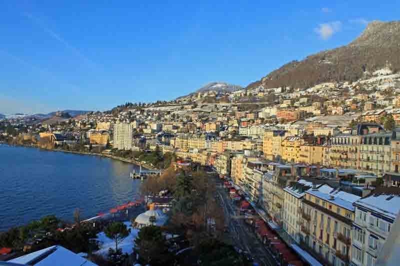 Montreux Waterfront on Lake Geneva, Switzerland