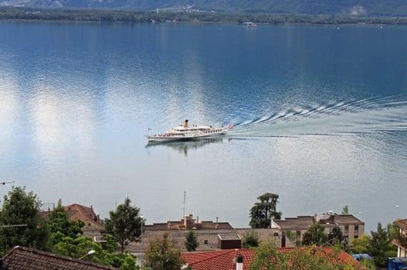 CGN Lake Geneva Boat at Montreux, Switzerland