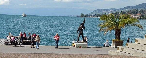 Freddie Mercury Facing Lac Léman in Montreux, Switzerland
