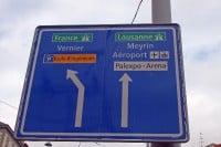 Geneva Airport Traffic Sign, Switzerland