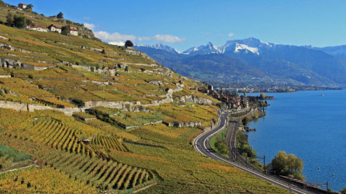 Transportation to Montreux on Lake Geneva in Switzerland
