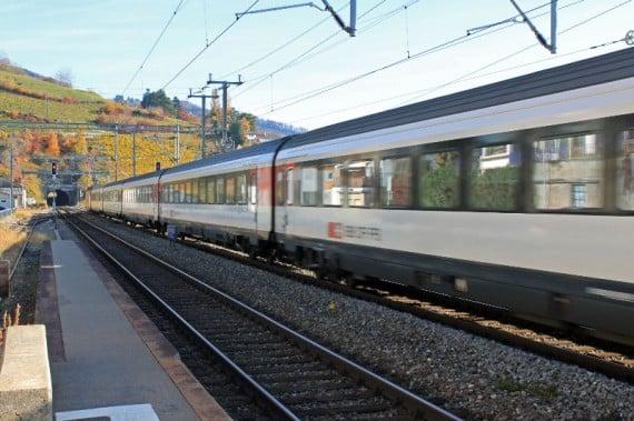 SBB / CFF Train to Montreux, Switzerland