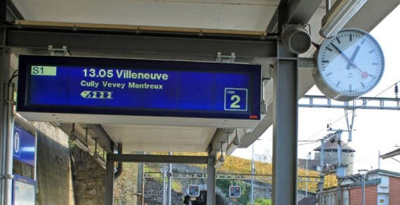 S-Bahn to Montreux, Switzerland