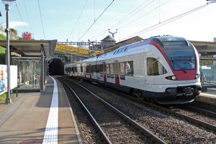 S-Bahn Train to Montreux in Switzerland
