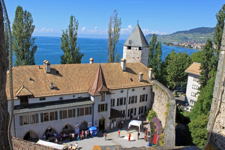 View from La Tour-de-Peilz on Lake Geneva