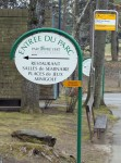 Car Postal Bus Stop at Parc Pré Vert at Signal de Bougy, Switzerland