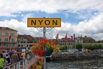 Nyon Lake Geneva Passenger Ferry Boat Landing