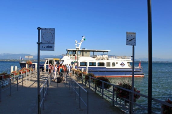 Lake Geneva Passenger Ferry Boat in Nyon