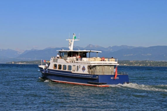Passenger Ferry Boats On Lake Geneva In Switzerland France