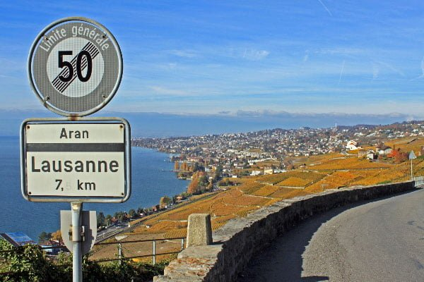 Scenic Route to Lausanne, Switzerland