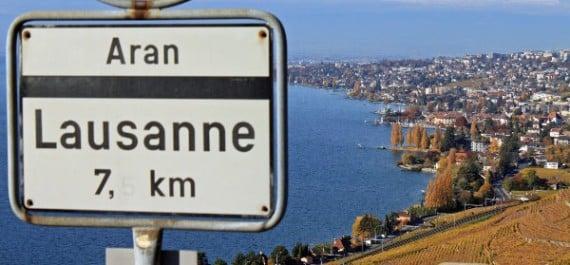 Lausanne on Lake Geneva, Switzerland