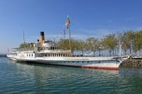 Paddle Steamer in Lausanne