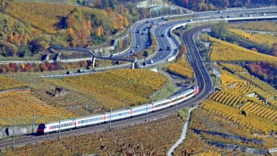 Autoroute A9 & Railway Line near Lausanne