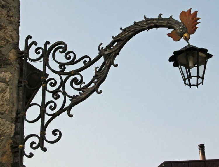 Wrought Iron Sign in St Prex on Lake Geneva
