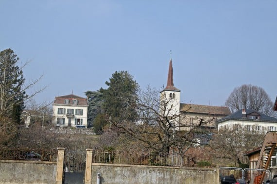 The historic Église St-Prothais in St Prex