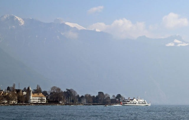 Lake Geneva Cruise Boat Leaving Vevey-La Tour