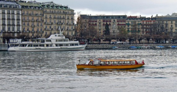 Mouette Ferry Boat in Geneva City