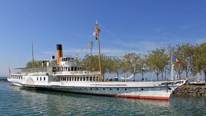 Montreux Lake Geneva Paddle Steam Boat