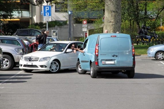 Parking in Morges on Lake Geneva, Switzerland