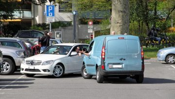 Parking in Morges on Lake Geneva, Switzerland, is sometimes contested