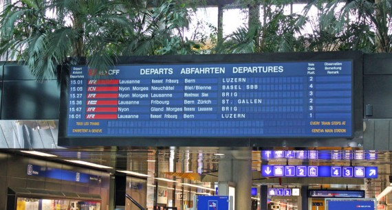 Trains Departure Times, Geneva Airport