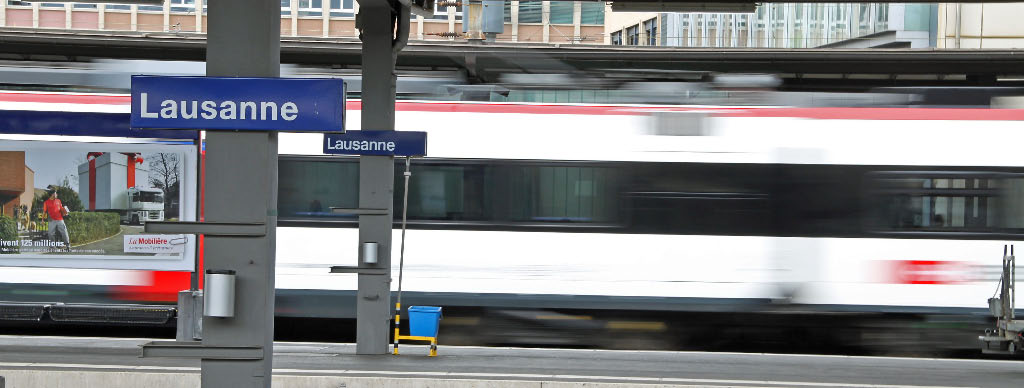 Railway Station in Lausanne, Switzerland