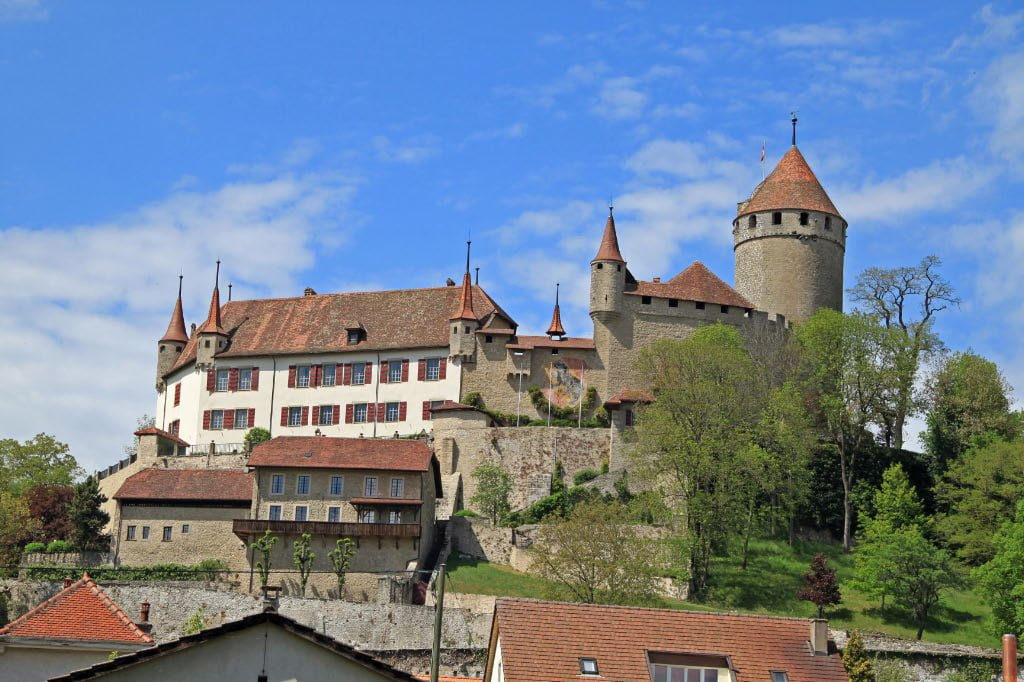 Lucens Castle in Switzerland